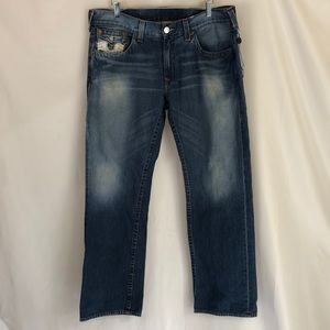 True Religion Mens Straight Leg Jeans Sz 40 x 32